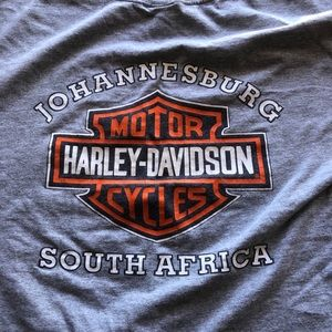 Three international Harley Davidson shirts